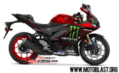 NEW R25 RED Monster energy Motogp 2019