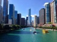 Chicago along the riverwalk
