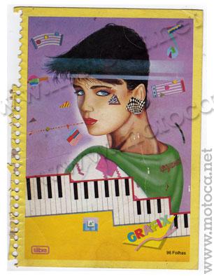 caderno anos 80