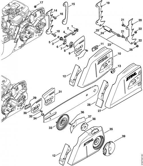 Натяжитель цепи Stihl для MS 260, MS 270, MS 361, MS 440