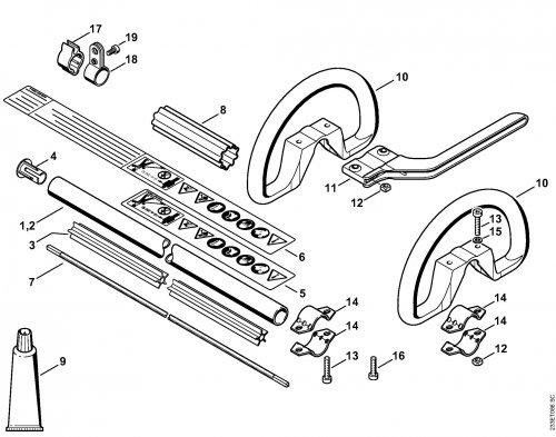 Хвостовик Stihl диам.25,4 мм для мотокос FS 55 (4140-710