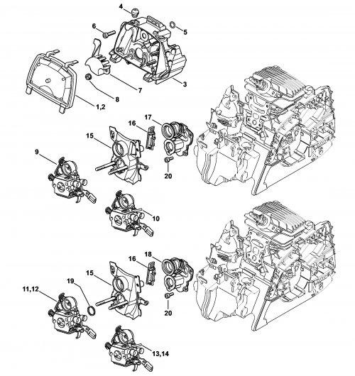 Патрубок карбюратора Stihl для MS 181, MS 211 (1139-140