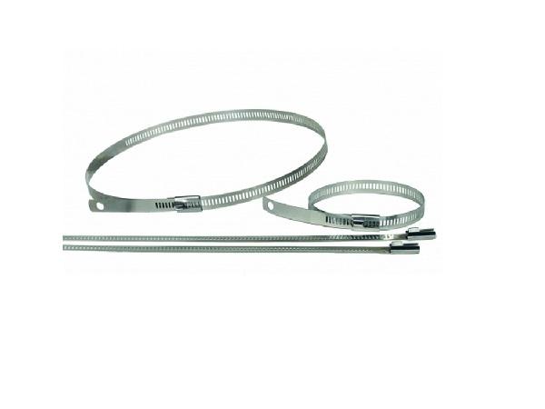 Snap Strap Lock Ties – stainless steel. 210mm.