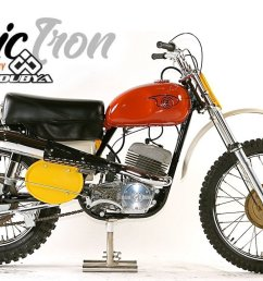 classic motocross iron 1969 cz 360 type 969 side pipe motocross  [ 1280 x 720 Pixel ]