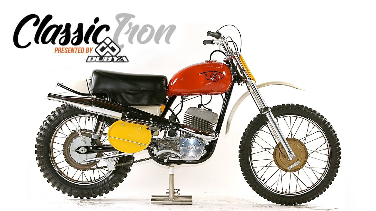 hight resolution of classic motocross iron 1969 cz 360 type 969 side pipe motocross