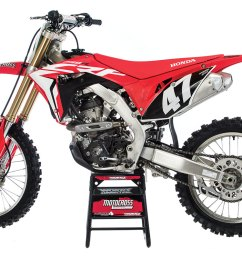 adding an additional exhaust port spigot flange and head pipe adding an electric starter and using the double overhead cam layout the crf250 comes in  [ 1200 x 800 Pixel ]