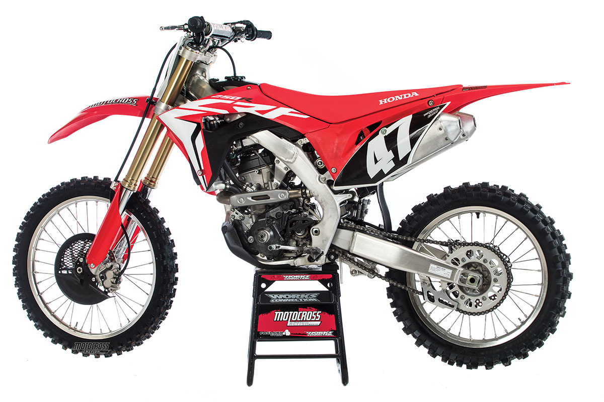 hight resolution of  adding an additional exhaust port spigot flange and head pipe adding an electric starter and using the double overhead cam layout the crf250 comes in