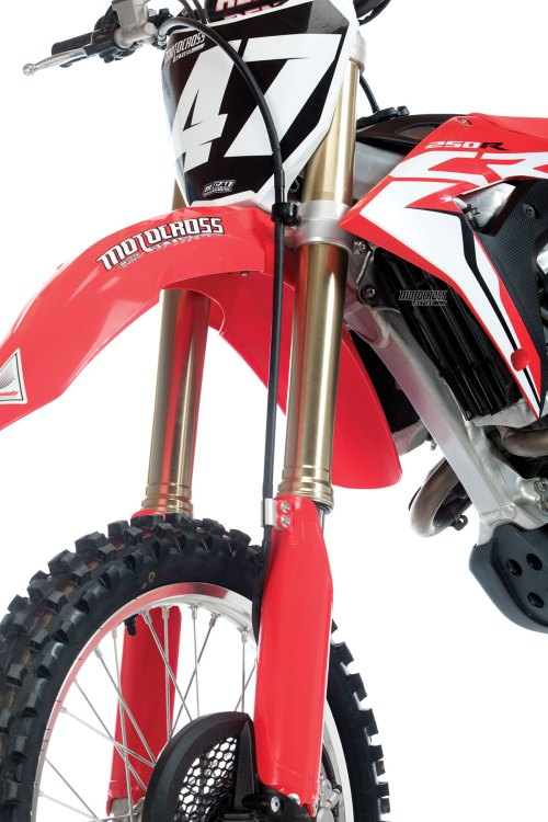 small resolution of the handling and feel of the crf250 are its saving graces the showa a kit spring forks work superbly under the new chassis it makes riding easier