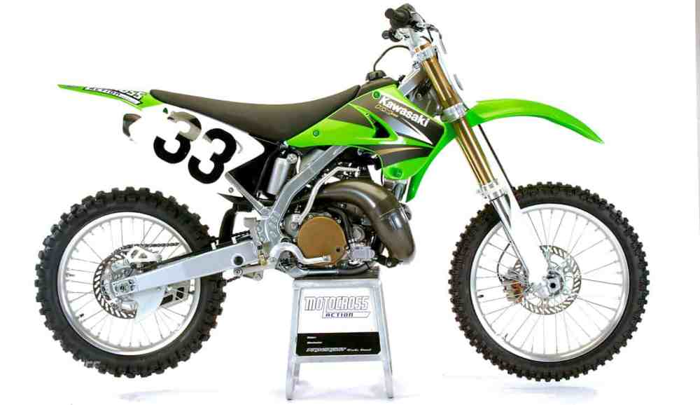medium resolution of 2004 kawasaki kx250 side view