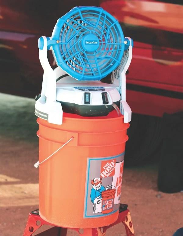 Mxa Team Tested Arctic Cove Bucket-top Misting Fan