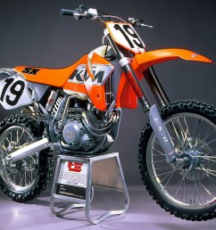 the 2000 ktm 520sx four stroke pre pro was tested in the december 1999 issue of mxa  [ 1280 x 863 Pixel ]