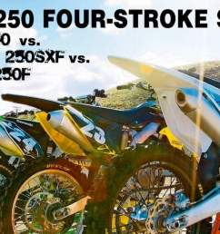 why are you reading mxa s 2016 250 four stroke shootout are you looking for guidance before you make a major purchase given that you will have to live  [ 1300 x 605 Pixel ]