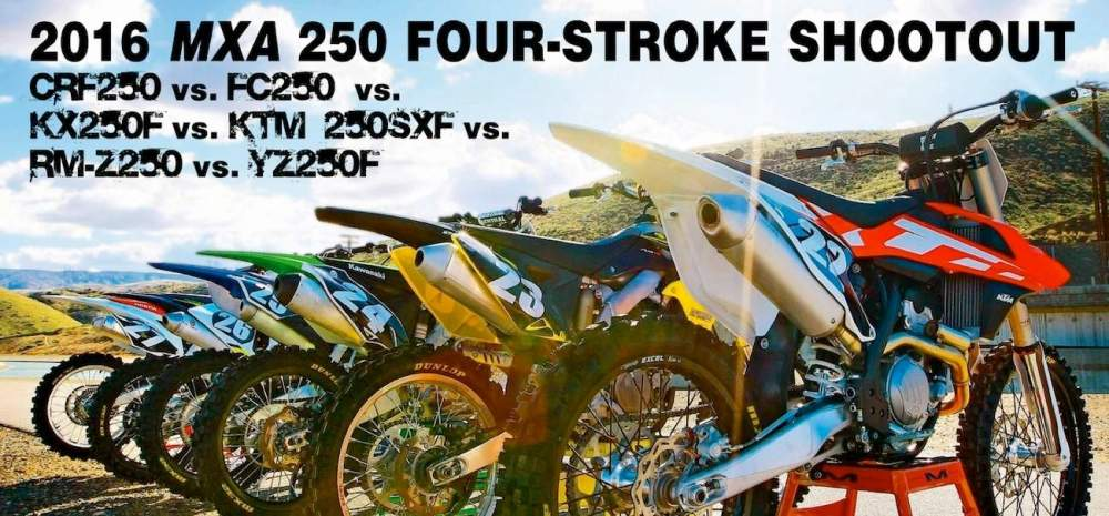 medium resolution of why are you reading mxa s 2016 250 four stroke shootout are you looking for guidance before you make a major purchase given that you will have to live