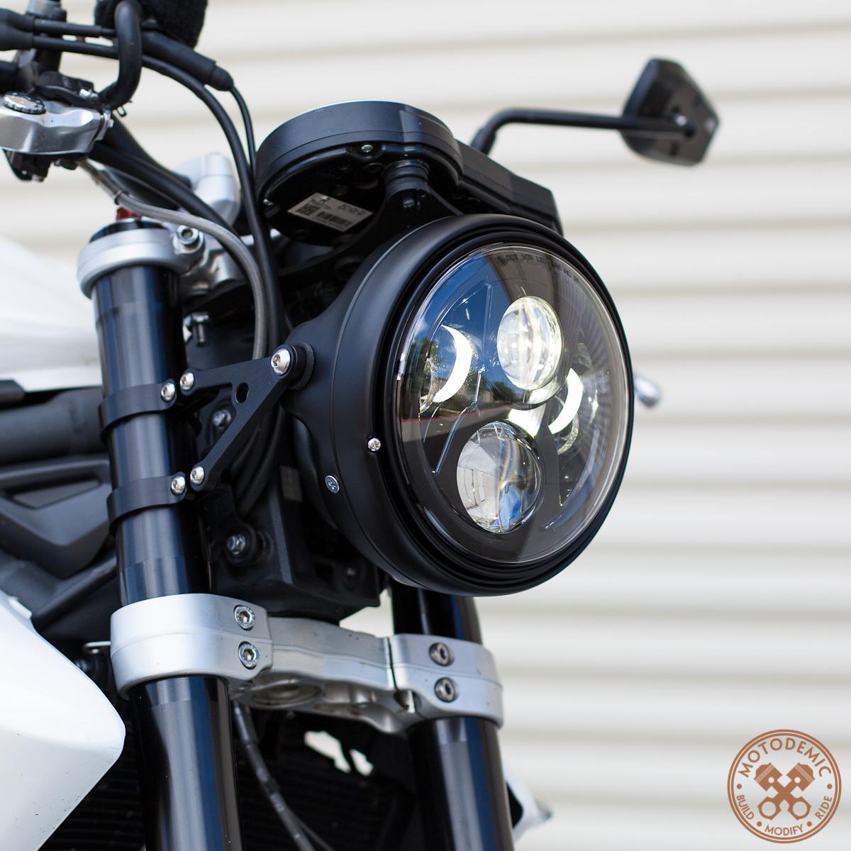 7 inch led headlight evo 2 � motodemic