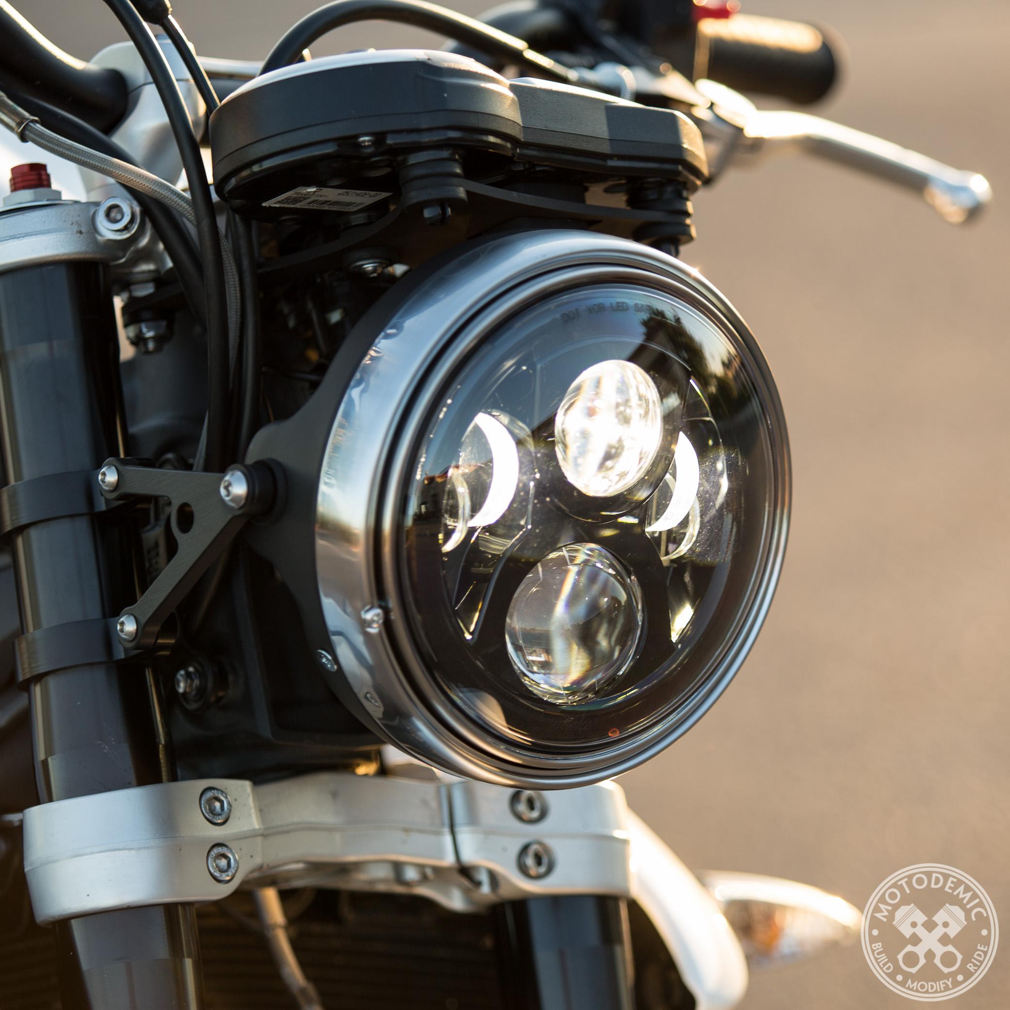 7 Inch LED Headlight Evo 2 • MOTODEMIC for Motorcycle Headlight Design  104xkb