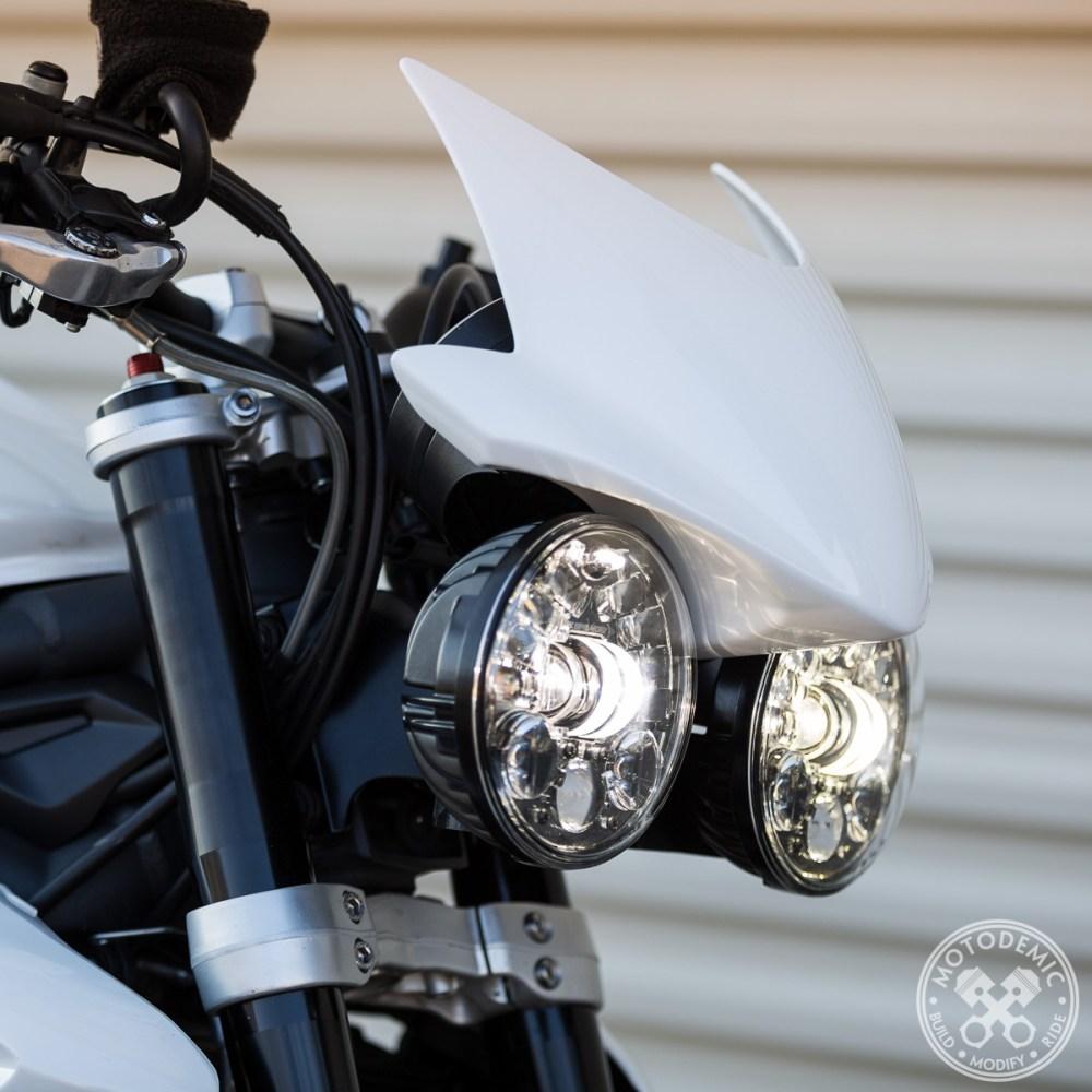 Triumph Round Headlight Conversion