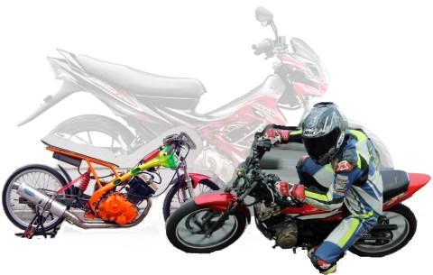 Satria FU drag race