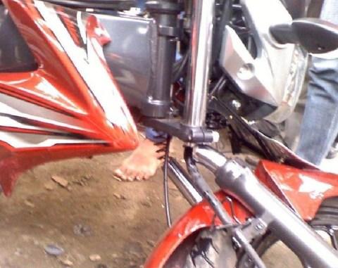 old vixion sok depan patah