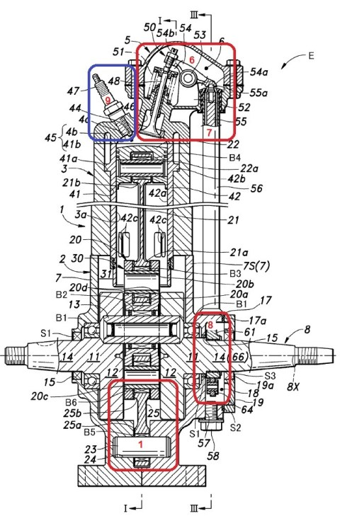 Honda-New 2T-Patent engine3