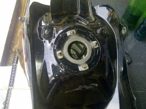 new cbr150 fuel tank bottom