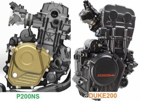 p200ns vs duke200 engine