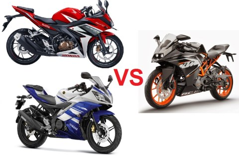 rc200 vs cbr150 vs r15 small