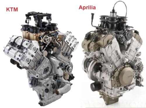 ktm-v4 aprilia v4 engine