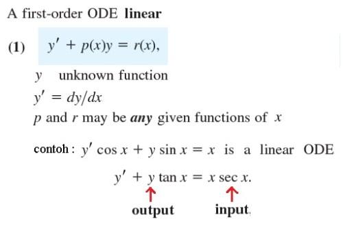 ODE-1 linear