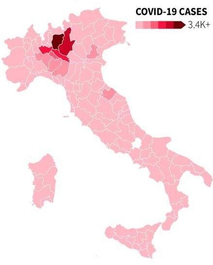 covid-19 italy map