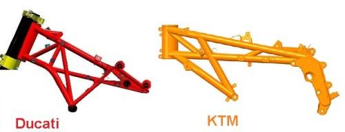 steel trust frame ducati - KTM