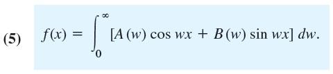 integral fourier formula fix