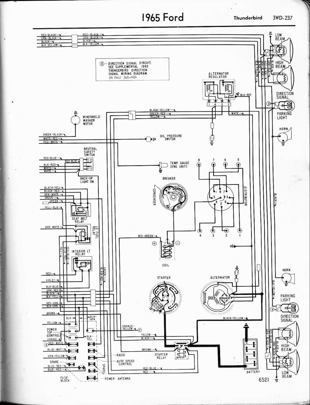 medium resolution of 1965 ford thunderbird alternator wiring diagram