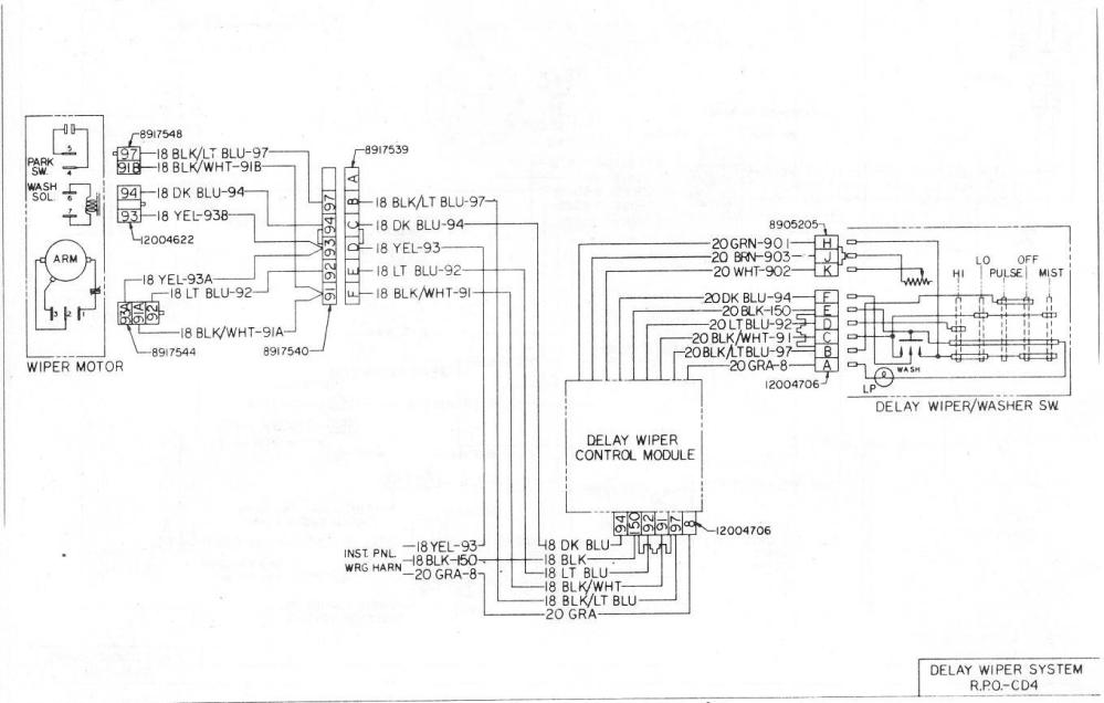 medium resolution of 1998 chevy silverado wiper motor wiring diagram