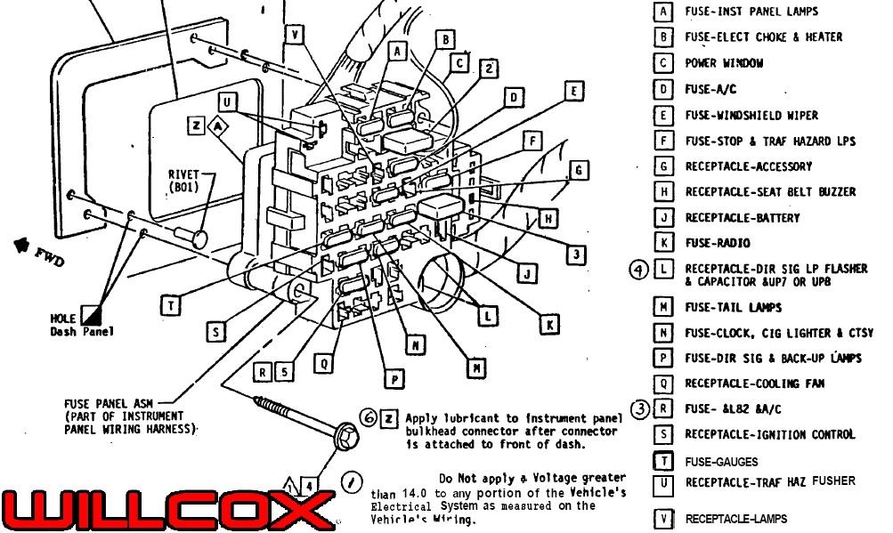 1979 Corvette Fuse Panel