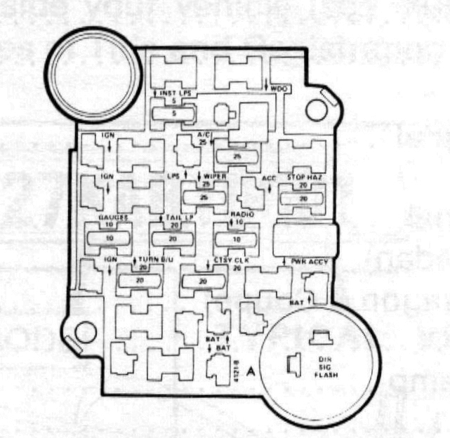 84 Chevy Truck Fuse Diagram 1984 Chevy K10 Fuse Box