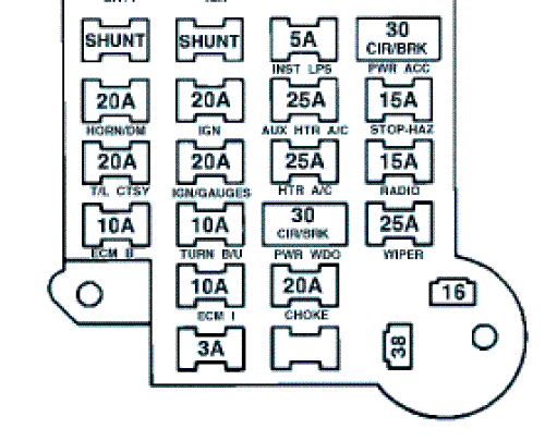 File: 85 Buick Fuse Box