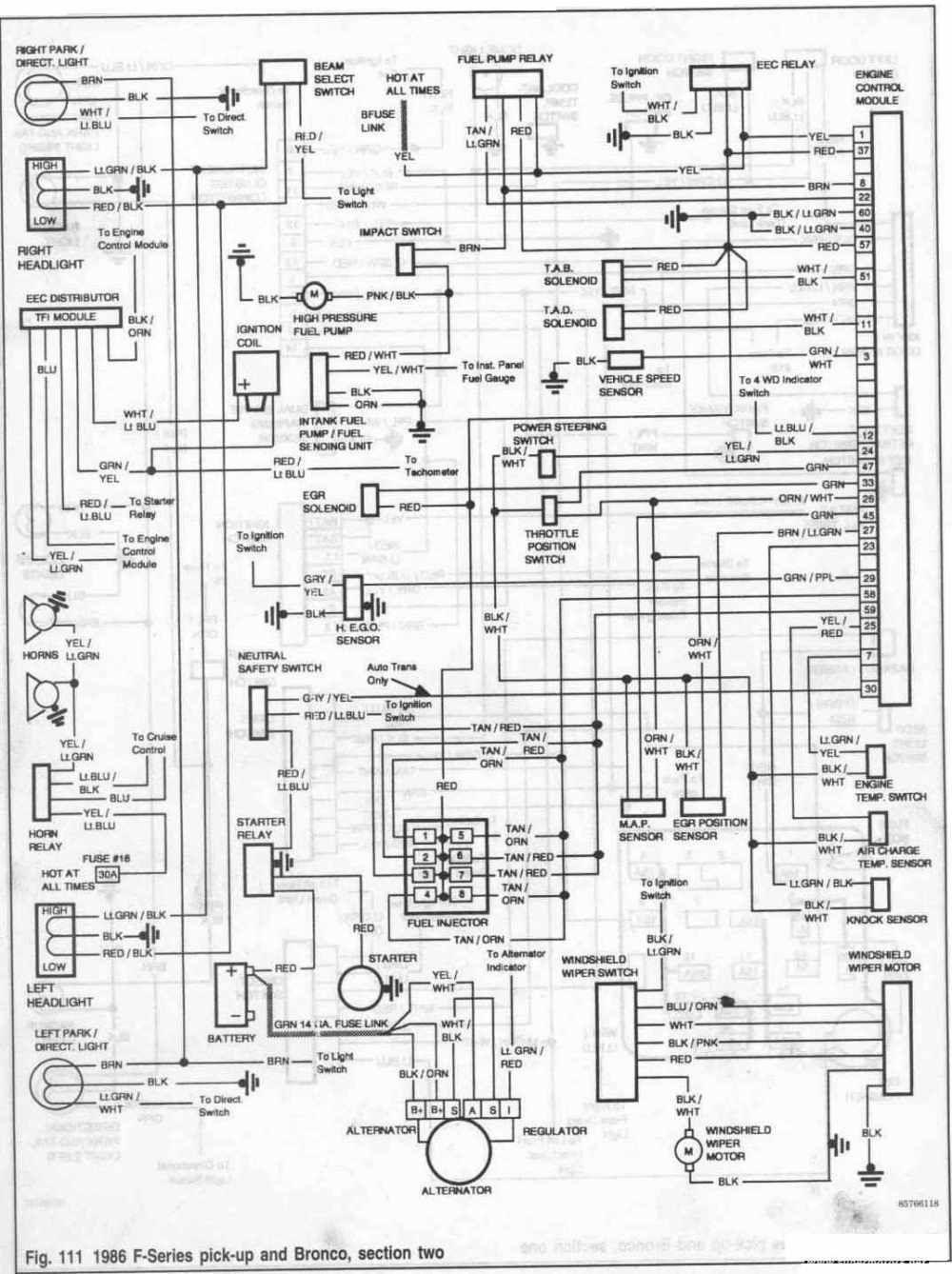 medium resolution of 86 ford bronco wiring diagram wiring diagram list 1986 ford bronco ignition wiring diagram 1986 ford bronco wiring diagram
