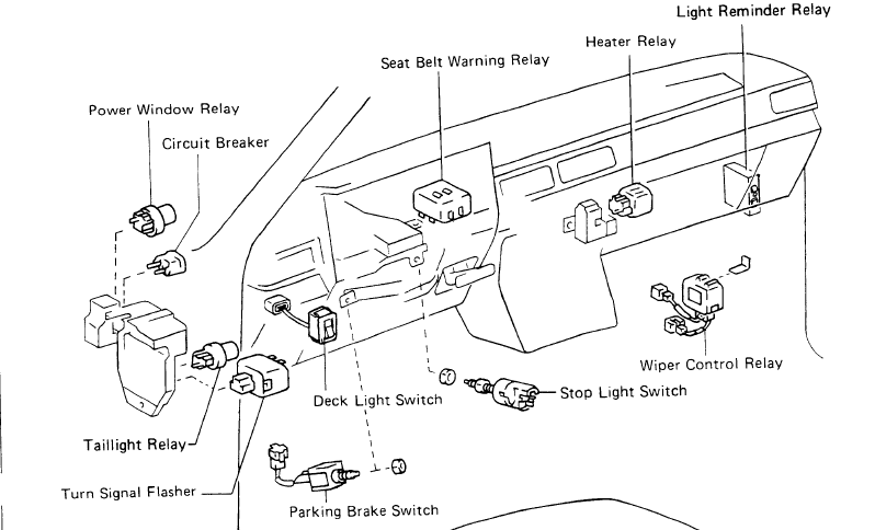 1986 Toyotum Fuse Box Diagram