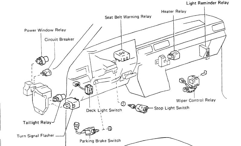 1995 Toyota Pickup Fuse Box Location