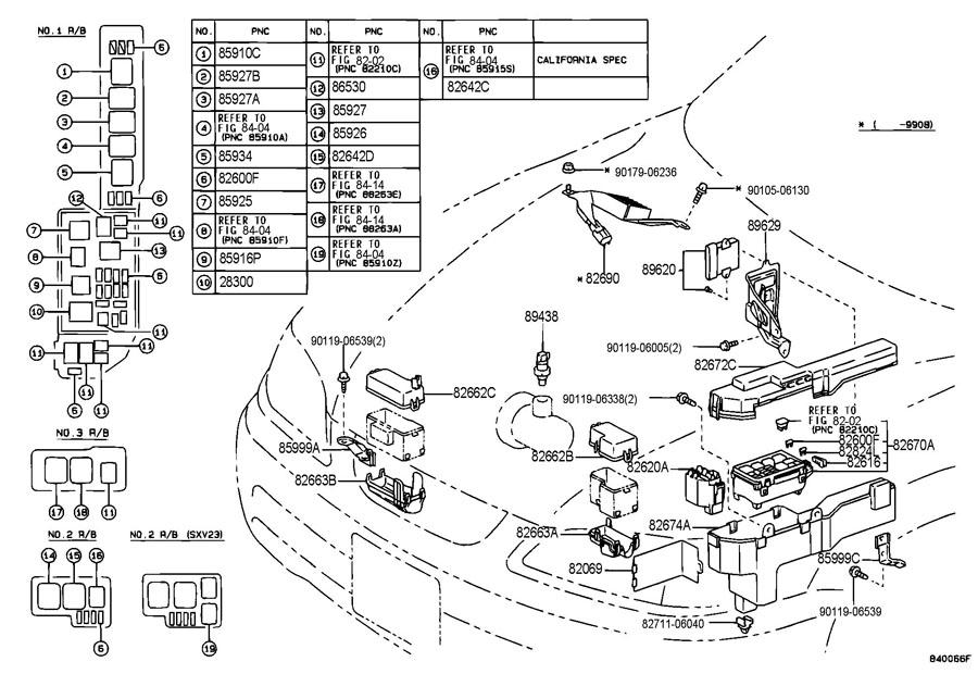 1991 Toyota Camry Starter Relay Location