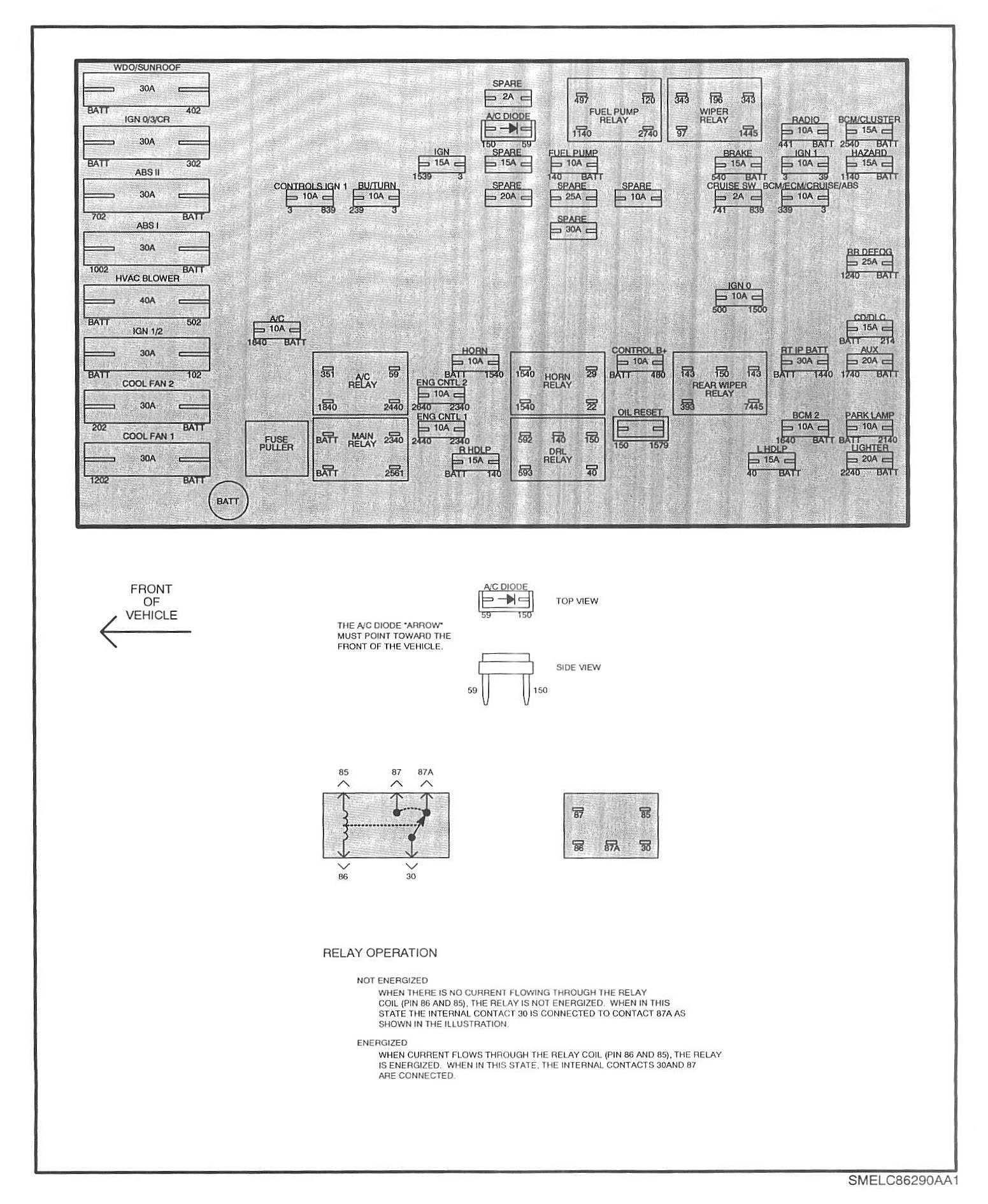 hight resolution of 1993 toyota 4runner fuse diagram