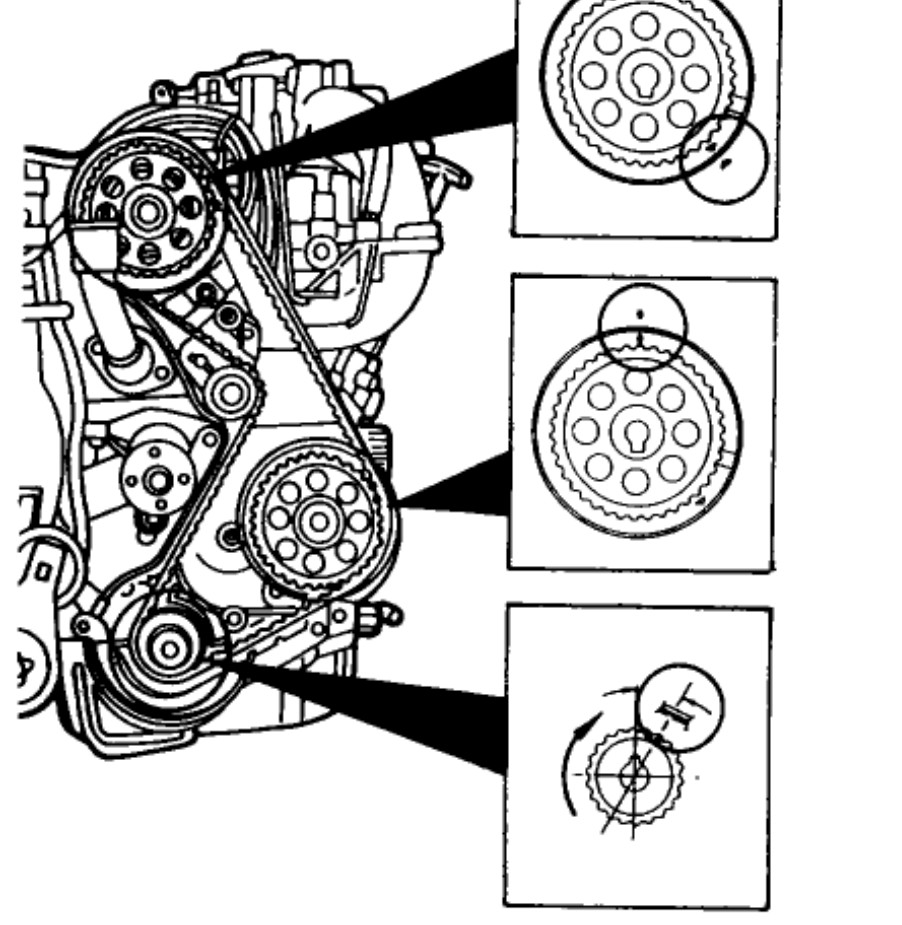 medium resolution of 1994 ford ranger 2 3 timing marks image details