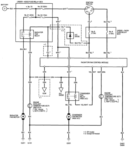 1999 Honda Accord AC Wiring Diagram