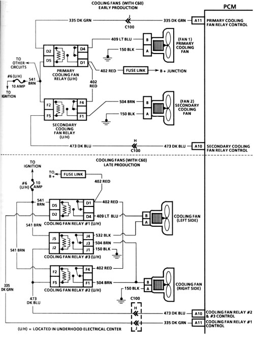 small resolution of 1995 chevy camaro cooling fan wiring diagram