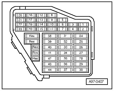 96 Audi A4 Fuse Box Diagram