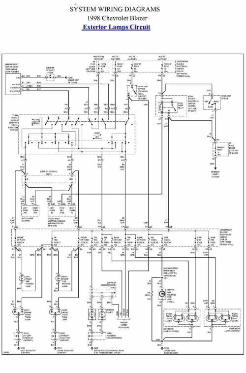 small resolution of 1998 chevy blazer electrical wiring diagram image details trailer wiring diagram 1998 blazer wiring diagram