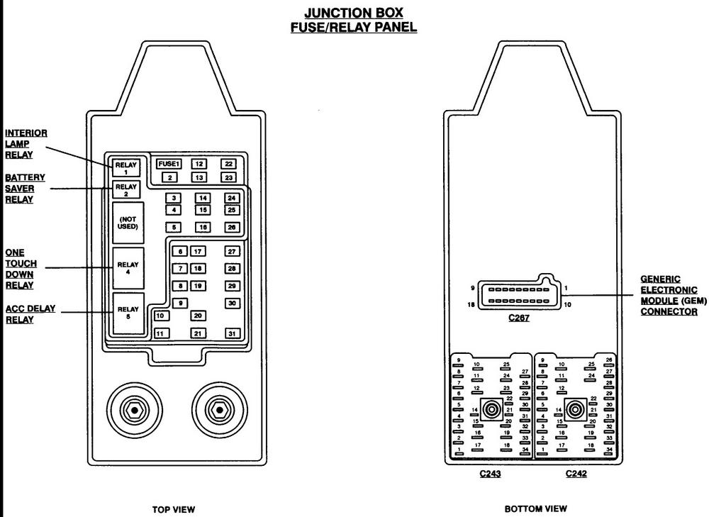 1999 Ford F150 Fuse Panel Diagram