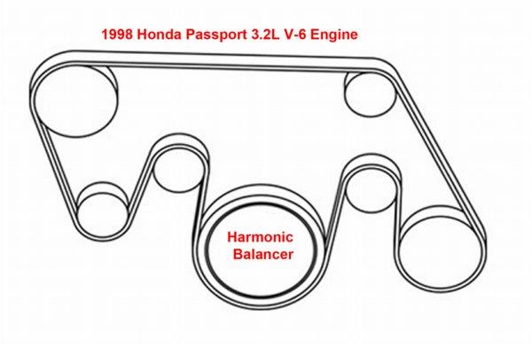 1998 Honda Accord Serpentine Belt Diagram