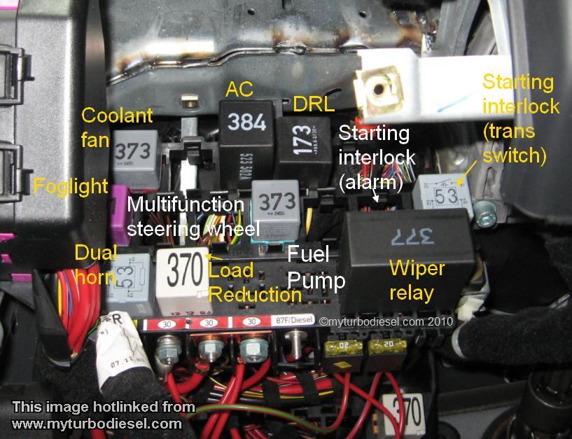 Need Under Dash Fuse Diagram For 2012 Volkswagen Jetta