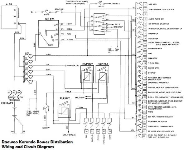daewoo leganza audio wiring diagram